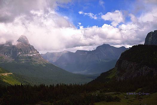 Peaks and Valleys Glacier National Park by Kae Cheatham