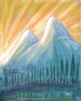 Peaks At Sunrise by Van Winslow