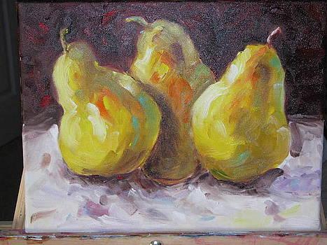 Pear impressions by Sheila Gunter