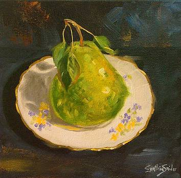 Pear on a Plate by Cynthia Snider