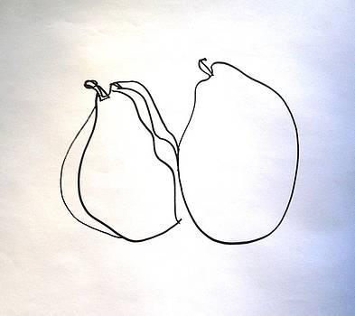 Pear Study - Detail by Linda DiGusta
