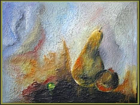 Pearl And Pear by Kneki Krtukaj