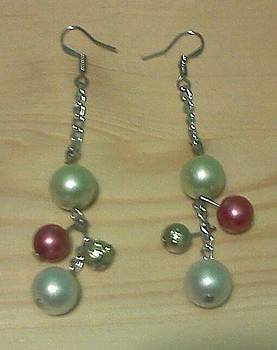 Pearl Bead Earrings by Kendell Tubbs