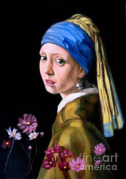 pearl yearing after Johannes Vermeer by Hidemi Tada