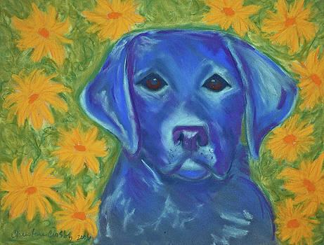 Pearlie in Flowers by Christine Crosby