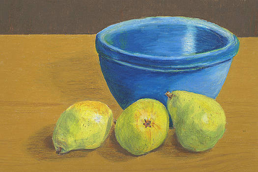 Pears and Bowl by Red Pine