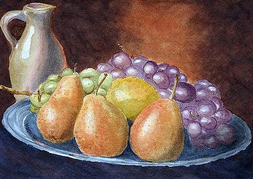 Pears and grapes by Marisa Gabetta