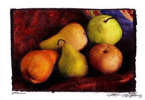 Pears Five Varieties by Jim McKinnis