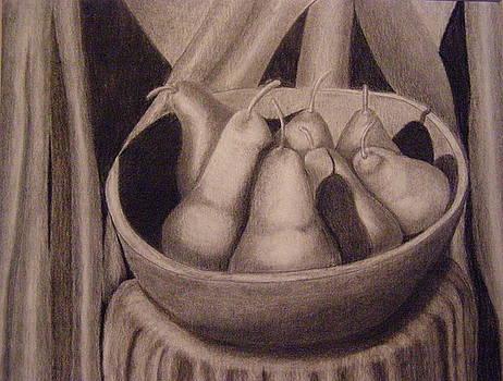 Pears in a Bowl by  Joseph Soulagnet