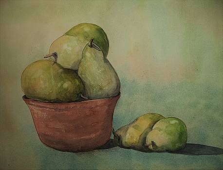 Pears In A Crock by Constance Larimer