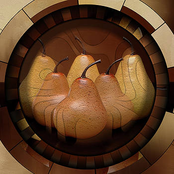 Pears That We Shared Art Deco Modern Grunge by Georgiana Romanovna