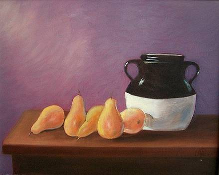 Pears with Jug by Susan Dehlinger