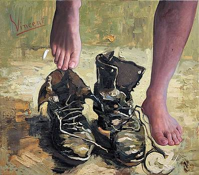 Peasant Shoes My Foot by Richard Barone