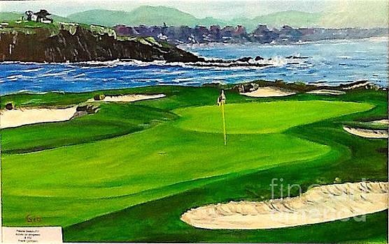 Pebble Beach 17th Hole by Frank Giordano