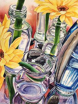 Pebbles, Glass and Mirror by Barbara Bullard