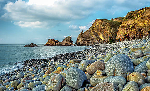 Pebbles on the Beach by Nick Bywater