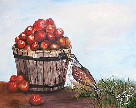 Peck a bushel of apples by Angela Pike