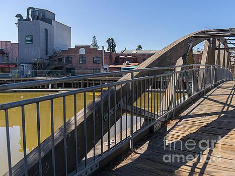 Wingsdomain Art and Photography - Pedestrian Bridge in Petaluma California USA DSC3750
