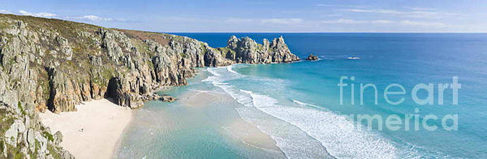 Pednvounder beach, Porthcurno, Cornwall. by Justin Foulkes
