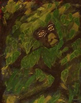 Peek A Boo Monkey by Will Logan