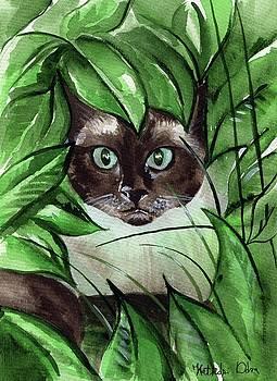 Peek A Boo Siamese Cat by Dora Hathazi Mendes