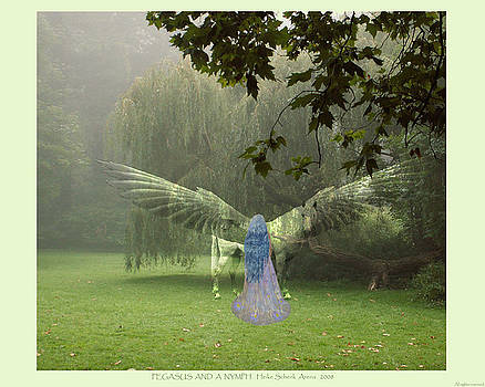 Pegasus and a nymph by Heike Schenk-Arena
