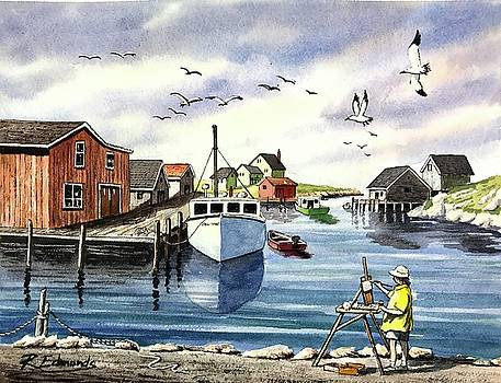 Peggy's Cove Harbor by Raymond Edmonds