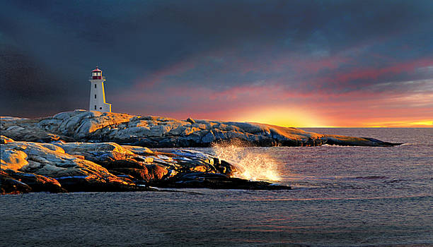 Peggys Cove Lighthouse by Harold Shull