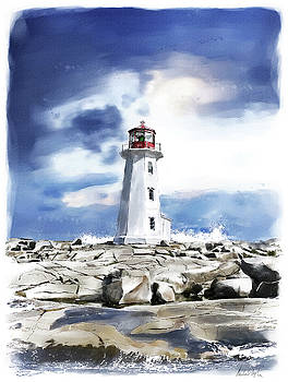 Peggy's Cove Lighthouse by Michael Doyle
