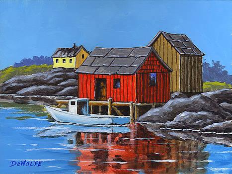 Peggys Cove by Richard De Wolfe