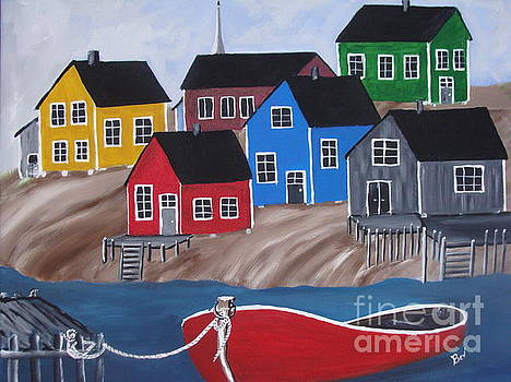 Peggy's Cove Village by Beverly Livingstone