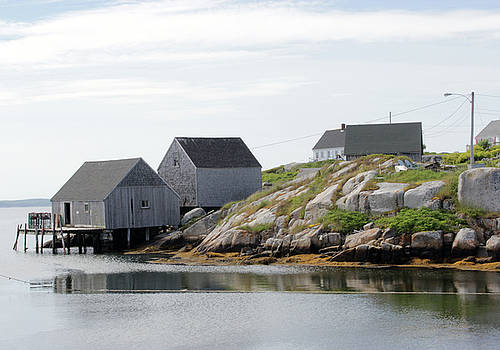 Peggy's Cove Village by Ewa Romanowicz