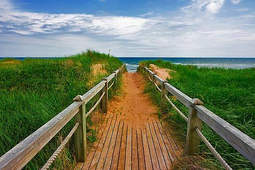 PEI Beach Boardwalk 2 by Nicolas Raymond