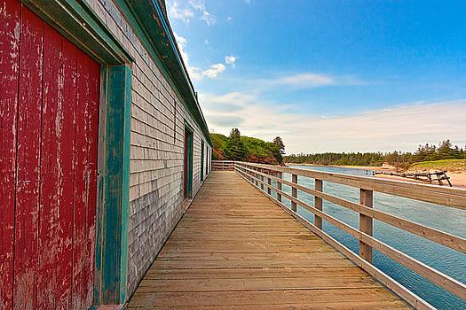 PEI Beach Boardwalk by Nicolas Raymond