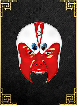 Peking Opera Masks - Wen Zhong by Serge Averbukh