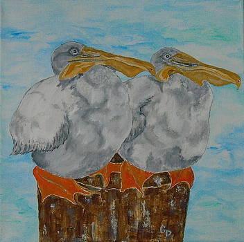 Pelican Diptych II by Georgia Donovan