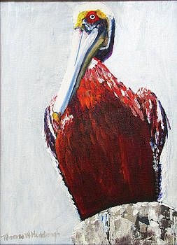 Pelican on a Post by Thomas Michael Meddaugh