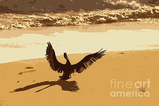 Pelican Spreads it's Wings by Sharon Foelz