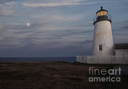 Pemaquid and Full Moon by Timothy Johnson