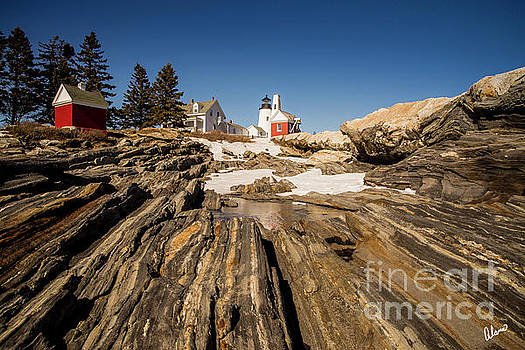 Pemaquid Lighthouse and Snow by Alana Ranney