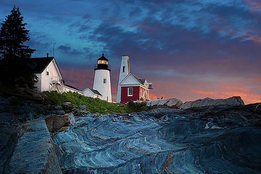 Pemaquid Point Lighthouse at dawn 2 by David Smith