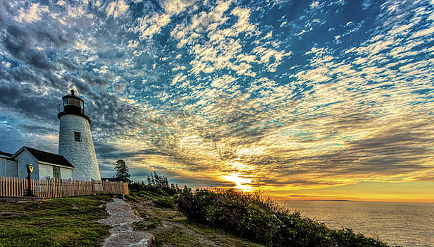 Pemaquid Point Lighthouse at Daybreak by David Smith