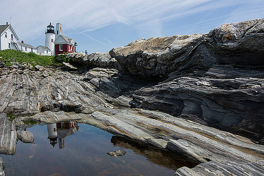 Pemaquid Point Reflection by Lee Fortier