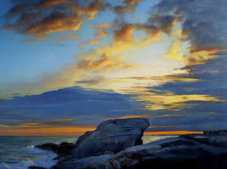 Pemaquid Sunset 1 by Ron Johnston