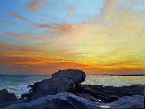 Pemaquid Sunset 2 by Ron Johnston
