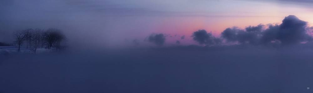 Pen Bay Sea Smoke Dawn by John Meader