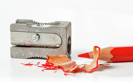 Pencil And Sharpener by Gary Gillette