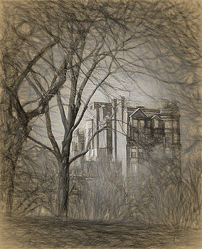 Pencil Sketch of Beacon Hill by Thomas Logan