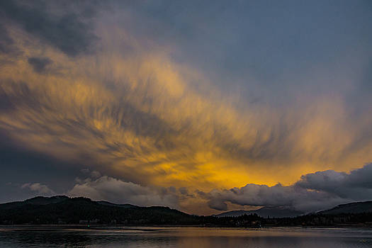 Pend Oreille River Sunset 1 by Albert Seger