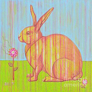 Penelope the Rabbit at Snickerhaus Garden by Christine Belt